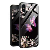 çiçek kelebek pu toptan satış-Yeni Kelebek Anti-düşme Yaratıcı Kelebek Aşk Çiçek telefon Kılıfı Kapak İÇİN: iphone 5 5 s 6 6 s 7 8 X XS XR ARTı MAX