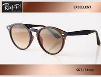 tasarımcı daire güneş gözlüğü toptan satış-2019 Retro Yuvarlak yüksek kalite daire Güneş Gözlüğü Steampunk Erkek Kadın Marka Tasarımcı Gözlük ulculos De Sol Tonları UV Koruması ile kutu logosu