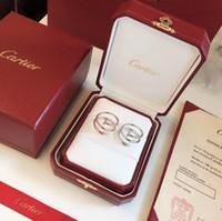 ingrosso gioielli di diamanti onyx-CARTIER Designer di lusso Anelli da donna Tre anelli senza unghie sbiaditi non allergici Seiko per creare una serie di unghie classica Platino in oro rosa bicolore