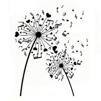 Wholesale musical decor for sale - Group buy 15 CM Interesting Musical Dandelion Decor Silhouette Decal vinyl Car Sticker Black Silver CA