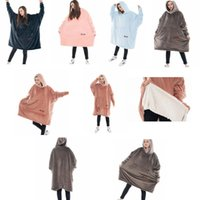 Wholesale cozy soft blankets resale online - Cozy Sherpa Blanket Warm Soft Sweatshirt for Adults Children Warm Comfy Oversized Blanket Sweatshirt color LJJK1148