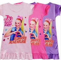 Wholesale 5t dresses sale for sale - Group buy 2019 INS Girls jojo T shirt dress New kids Cartoon pattern princess pattern Short sleeve dresses clothes Hot sales A2204