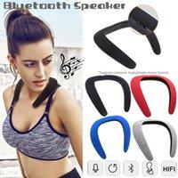 parte superior do pescoço venda por atacado-Top Sounds Qualidade Alto-falante Wearable Neckband Alto-falantes Bluetooth Leve Sports Speakers Sem Fio Subwoofer 3D Alto-falantes Estéreo