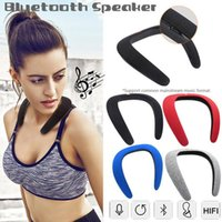 oberes nackenband großhandel-Top-Sounds Qualität Tragbarer Lautsprecher Nackenbügel Bluetooth-Lautsprecher Leichte Sport-Wireless-Lautsprecher 3D-Subwoofer-Stereo-Lautsprecher