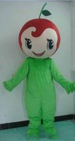 Wholesale cherry costume resale online - 2018 High quality hot adult red cherry mascot costume with green shirt for adult to wear