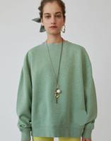 fügen sie mode halsbänder großhandel-Womens Fashion Hoodies hinzufügen Velvet Round Collar Garn Silhouette Hoodie Damen Langarm Fashion Regular Kleidung