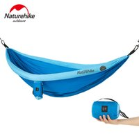 Wholesale camping chair beds resale online - Naturehike Person Outdoor Mosquito Net Parachute Hammock Camping Hanging Sleeping Bed Swing Portable Double Chair Hamac