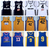 42 film großhandel-College Movie Basketball 4 Allen Iverson Trikot Besiktas Cola Turka 42 Scott Howard 9 Jimmy Brooks 13 Wilt Chamberlain 7 Toni Kukoc