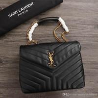 totes big top al por mayor-Global Limits Womens Luxury Big Shoulder Bag Mix Color Leather Fashion Handbags Women Top Handle Bags Chain Dress Totes 26821 ro