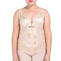 taille plus corset achat en gros de-Body Shape Wear taille corset lingerie Shaping Underwear Grande taille Shapewear Body Shaper Corset Perte de Poids Ceinture abdominale 5xl