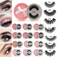 fb56904b306 mink False Eyelashes 3D Faux Mink Lash Reusable Fluffy Eyelash Invisible  Band Dramatic lashes Pink Glitter Package