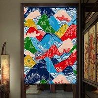 tela azul china al por mayor-Cortinas de tela de estilo japonés Cortinas de baño Entrada Estudio Cortina de dormitorio Cortinas de puerta chinas Decoración del hogar Coreano