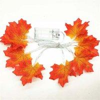 ingrosso ha portato le luci di natale c7-LED Maple Leaf Fairy Ghirlanda Led String Light 1.5M 3M Plant Holiday String Light Wedding Room Illuminazione decorativa natalizia