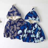 Wholesale woolen clothes for girls for sale - Group buy Autumn Winter Warm Jackets for Girls Boys Kid Zip Thick Snowsuit Hoodies Overcoat Kids Hooded Outerwear Coat Children Clothes