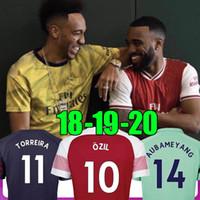 uniforme al por mayor-TOP camiseta de fútbol de Tailandia 19 20 AUBAMEYANG LACAZETTE 2019 2020 Camiseta XHAKA OZIL camiseta del equipo de fútbol uniformes maillot de foot tercero