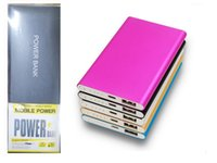 Wholesale slim tablets resale online - Ultra Slim Portable Power Bank Batteries mah Charger Power Bank For All Phones Tablet PC External Cattery With Retail Packaging Free DHL