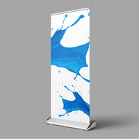 banner stand al por mayor-85 * 200 cm Roll up Flex Banner Stand Lágrima Pop Up Banner Display Stand con Banner impreso Bolsa de transporte portátil