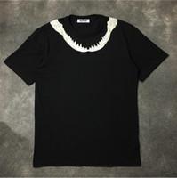 neuheit knochen großhandel-Hohe neue Neuheit 2017 Männer Zähne Knochen Hals-T-Shirts T-Shirt Hip Hop Skateboard Parkour Straße Cotton T-Shirts T-Top C55