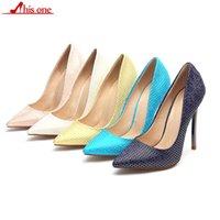 sapatos estilo italiano mulheres venda por atacado-2019 Sexy Mulheres padrões Geométricos Pele Em Relevo Sapatos De Salto Alto Estilo Italiano Senhoras Da Moda Extremamente Estiletes Bombas De Alta