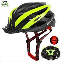bisiklet kaskı erkek xl toptan satış-Dağ Bisikleti Kask Ultralight Bisiklet Kask ile Arka Işık MTB Yol Bisikleti Ayrılabilir Siperlik Bisiklet Güvenlik Erkekler Kadınlar