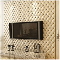 уникальные обои оптовых-Unique Luxury European 3D stereo imitation leather wallpaper TV background wall bedroom living room porch video wall wallpaper