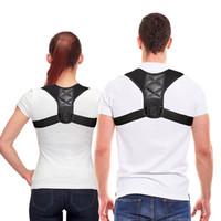 ingrosso cinture di supporto per il dolore alla schiena-Correttore di posizione della clavicola medica per bambini adulti Supporto per la schiena Corsetto per cintura Ortopedico Tutore per spalla Correttore per alleviare il dolore alla schiena