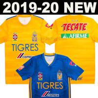 jersey tigres uanl al por mayor-19 20 Camiseta de fútbol 7 estrellas NAUL Tigres UANL GIGNAC VARGAS GUERRON 2019 2020 México Tigres UANL DAMIAN SOSA H.AYALA camiseta de fútbol de calidad superior de Tailandia