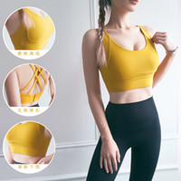 Wholesale women fitness cloth for sale - Group buy Sports Bras home cloth Cross Buckle Underwear Anti vibration Gathered Bra for Women Support for Yoga Gym Workout Fitness Pilates NO WX1245