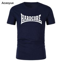 ingrosso ragazzo asiatico-2018 T-shirt Hardcore Uomo Ragazzo Moda Asiatico Oversize Cool Fun Summer Maglietta Manica corta
