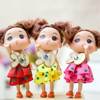 Wholesale gift beautiful doll for sale - Group buy 12cm confused doll cartoon bouquet doll wedding throwing cloth doll wedding gift Beautiful Classic dolls for children s gift lol