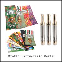 Wholesale Exotic carts with holograms Mario carts with cartridges not leak AC1003 gold ml ceramic coil flavor for option
