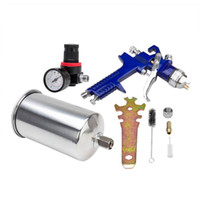 пистолет-распылитель оптовых-1.4mm  Gravity Feed Spray Gun W/ Air Regulator Auto Paint Basecoat Clearcoat