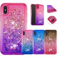Wholesale quicksand case for samsung online – custom Glitter Quicksand Liquid Floating Sparkle Shiny Bling Diamond Phone Cases For x xr Samsung S8