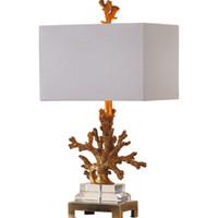 stoff kristall schlafzimmer lichter großhandel-Luxuxgewebe COVER Tischbeleuchtung für Wohnzimmer MODERN NORTH EUROPE Artkristall Lampe Tischlampe Schlafzimmer Wohnraumbeleuchtung