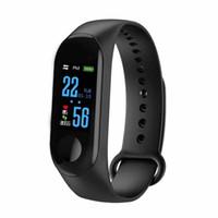 taux de mètre achat en gros de-M3 intelligente Band Bracelet Montre cardiofréquencemètre Activité Fitness Tracker pulseira Relógios reloj inteligente Smartband Xiaomi montre de pomme MQ20