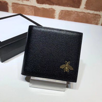 Wholesale sport chic for sale - Group buy New Famous fashion brand men s short leather purse decorated with chic metal bee detail purse top quality