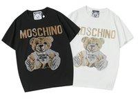 tasarımcılar kadın giyim toptan satış-2019 Lüks Yeni Moda Tasarımcısı Giysi Avrupa T-shirt Erkek ve Bayan T Gömlek Casual Pamuk Tee