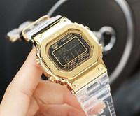 relógio de fita venda por atacado-GMW-B5000 43mm Relógio de Quartzo Dos Esportes Ao Ar Livre dos homens GA110 35o Aniversário Edição Silicone LED Fita Adesiva À Prova D 'Água