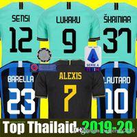 camisa inter venda por atacado-Mushup 20º aniversário ICARDI LAUTARO Martinez Inter 2019 2020 camisa de futebol de Milão PERISIC NAINGGOLAN campeão jerseys 18 19 20 camisa de jogo de futebol