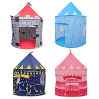 Wholesale children prince boys for sale - Group buy 4 Colors Play Tent Portable Foldable Tipi Prince Folding Tent Children Boy Castle Cubby Play House Kids Gifts Outdoor Toy Tents