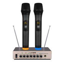baixo vivo venda por atacado-S-16 Microfone sem fio UHF com microfone de eco baixo ajustável para sistema de home theater alto-falante do computador Smart TV Transmissão ao vivo