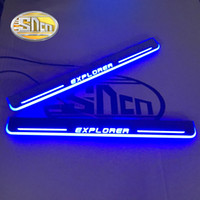 Wholesale car door sill led lights for sale - Group buy SNCN Car LED Door Sill For Explorer Ultra thin Acrylic Flowing LED Welcome Light Scuff Plate Pedal
