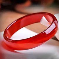 Natural Ice Ruby Carnelian Bracelet Women's Fine Ruby Bracelet Ice Red Agate Jade Bracelet Wholesale