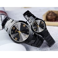Wholesale lovers watches pair for sale - Group buy LSVTR fashion Couple Watches Pair Men And Women Waterproof Calendar Stainless Steel Lovers Watch Couples Gift