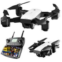 quadcopter modelleri toptan satış-SMRC S20 Mini RC Drone 2.4G 6 Akslar Gyro GPS Ile Geniş Açı 1080 P Kamera Irtifa Tutun RC Modeli Quadcopter Taşınabilir oyuncaklar