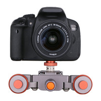 Wholesale rail car tracking online - Freeshipping Camera Slider Mini Flexible Motorized Electric dolly Wheel Pulley Car Rail Rolling Track Slider Use for DSLR Camera Camcorder