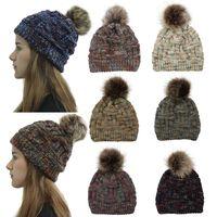 senhoras lã chapéus venda por atacado-Mulheres de inverno Chapéu De Malha Quente Pom Pom colorido Chapéu De Lã Das Senhoras Do Crânio Gorro Sólido Feminino Ao Ar Livre Caps LJJA2775