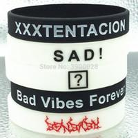 звездный браслет оптовых-1pc xxx Xxxtentacion xxxtentacion sad Bad vibes forever USA American Rapper star silicone wristband bracelet
