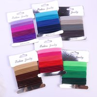 Wholesale seamless elastic band for sale - Group buy 18PCS Hair Rope For Girls Gradient Color Hair Ring High Elastic Seamless Rubber Band Head Rope Silver Card Suit G0409