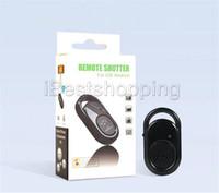 bluetooth ios denetleyicisi toptan satış-Bluetooth Uzaktan Kumanda Düğmesi Kablosuz Denetleyici Zamanlayıcı Kamera Sopa Deklanşör Telefonu ios için Monopod Özçekim